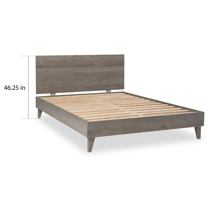 Industrial Barnwood Platform Bed Frame and Headboard - Free Shipping Today - Overstock.com - 21847104