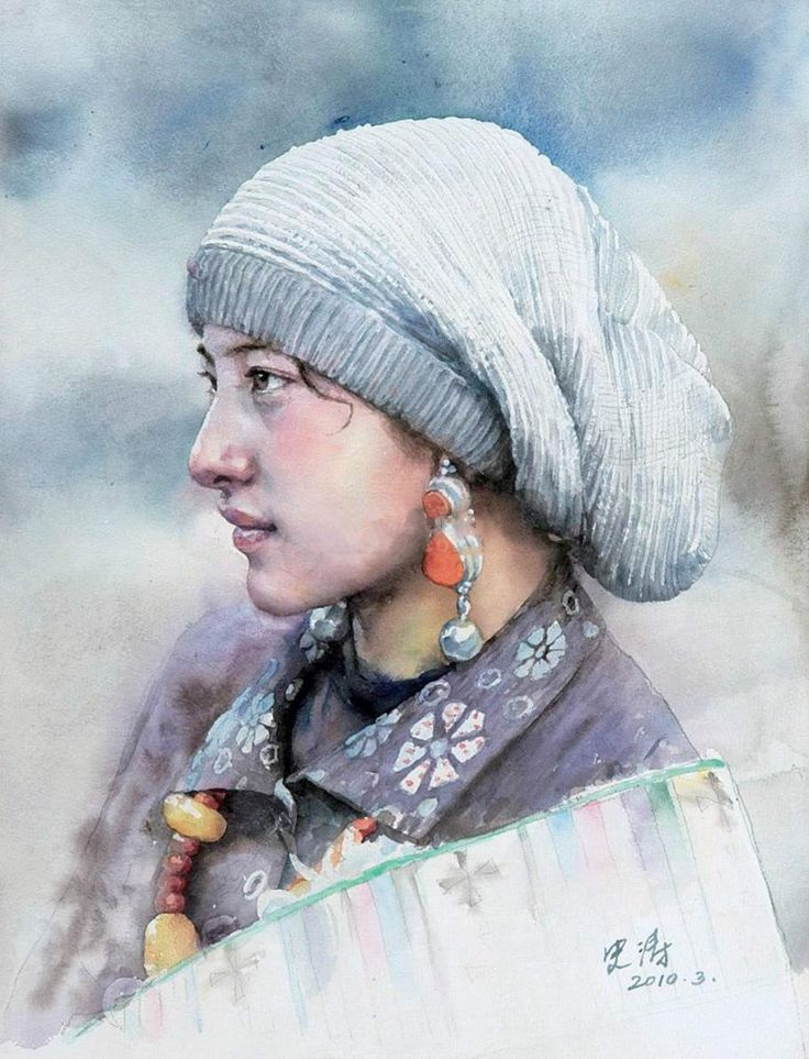 외국작가 소개 - Watercolor Paintings of Shi Tao
