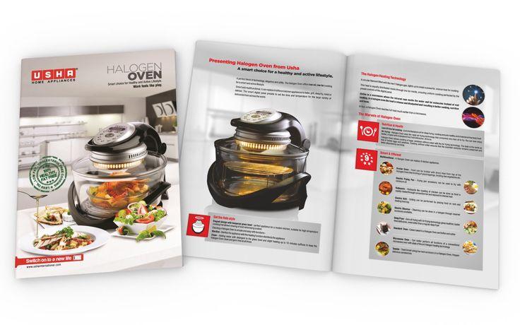 Brochure Design of Halogen Oven for USHA INTERNATIONAL