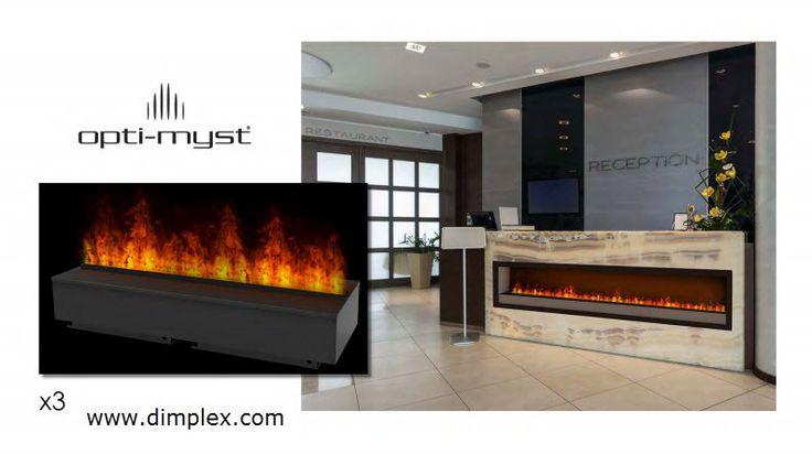 Custom Opti Myst 1000 Cassette Fireplace Using 3 Units