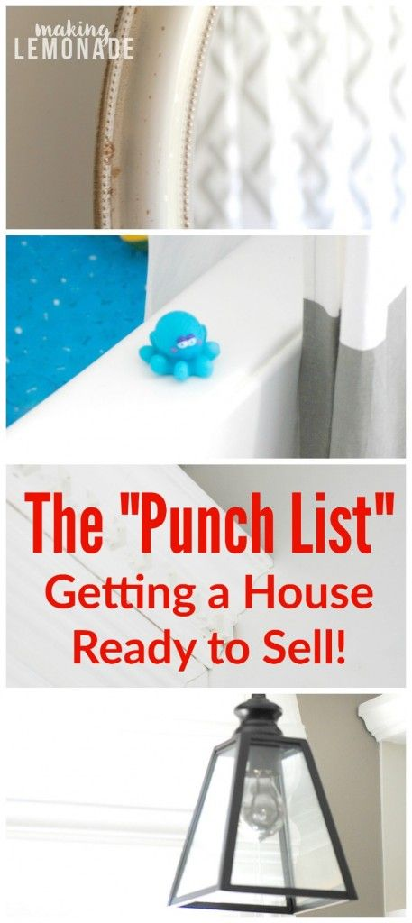 ideas and tips for getting a house ready to sell!