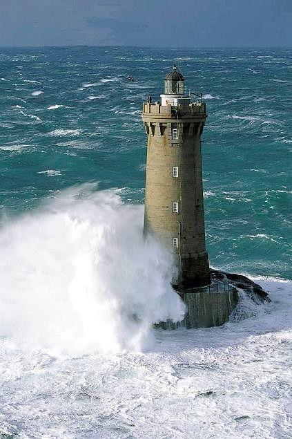 Tempête sur la pointe de Bretagne