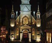 Notre-Dame-de-Bon-Secours Chapel by night
