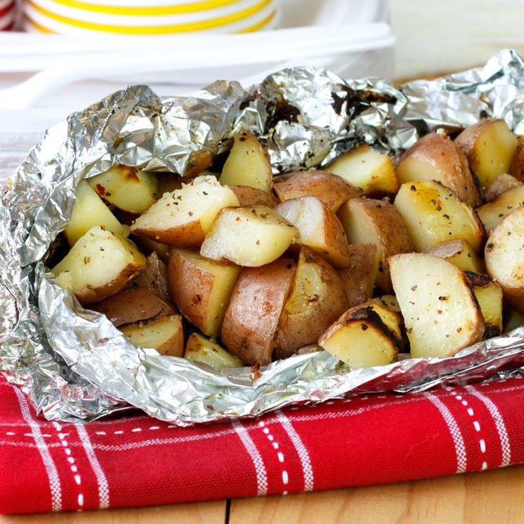 Thereandrsquo;s one less pot to scrub when you grill small red potatoes in foil packets, along with the chicken or steak.