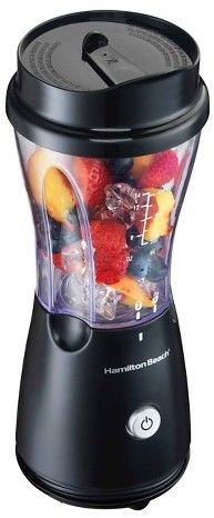 Making your morning smoothie just got easier with the Hamilton Beach Single Serve Blender. This compact blender is ready to whip up shakes, smoothies, salad dressings and more. A single button makes blending easy, while the 14-ounce blending jar transforms into a travel cup with an included drinking lid. The jar and lid are dishwasher safe, the stainless steel blades are sturdy and durable, and a hideaway cord makes storage a cinch #smoothies #smoothie #blender #style #love #fashion…