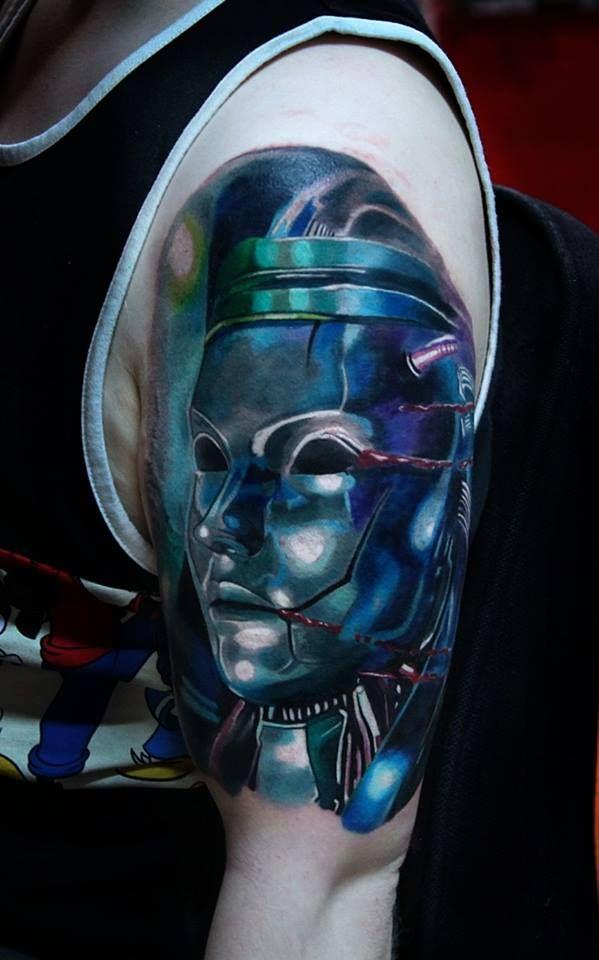 Robot tattoo by Kory Angarita