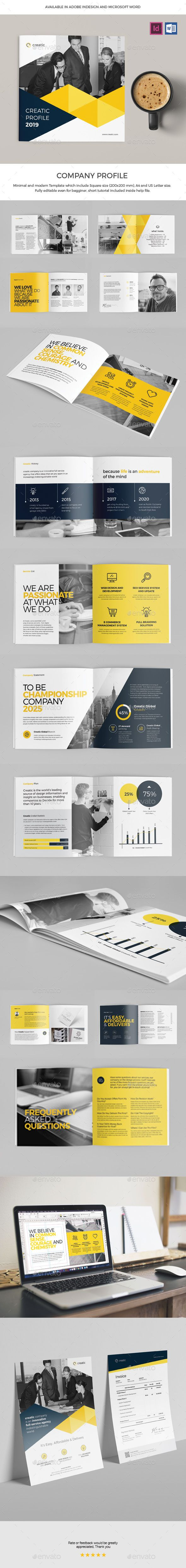 Company Brochure Template InDesign INDD - 26 Pages