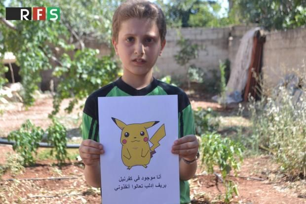 Syrian children hold Pokemon pictures in the hope people will find them and save them - Photos of Syrian children holding pictures of Pokemon characters and asking the world to save them have been circulating the internet. Pictures emerge after five years of a civil war that has left hundreds of thousands dead and seen millions forced to flee their homes,