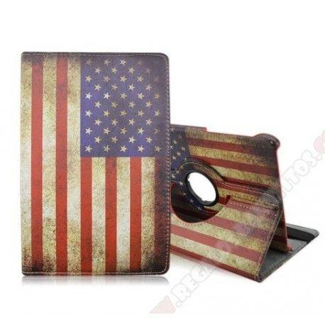 "Funda diseño bandera americana giratoria para Galaxy Tab S2 8"""
