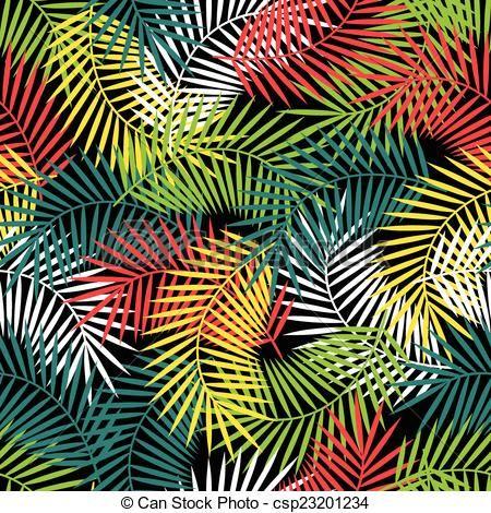 Vecteur - Seamless, exotique, modèle, stylisé, noix coco, paume, feuilles - Banque d'illustrations, illustrations libres de droits, banque de clip art, icônes clipart, logo, image EPS, images, graphique, graphiques, dessin, dessins, image vectorielle, oeuvre d'art, art vecteur EPS