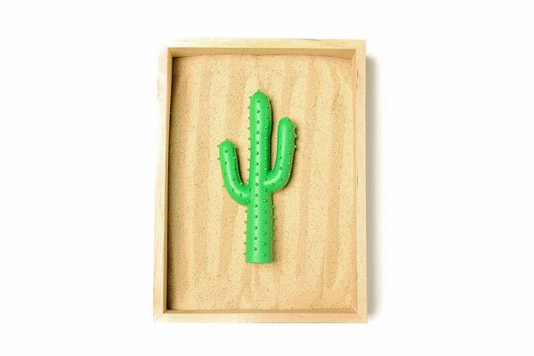 Silly Succulent Cactus Toy // Made from durable rubber the Waggo Silly Succulent Cactus Toy is great for dental health and is sure to be your pup's new go-to toy.