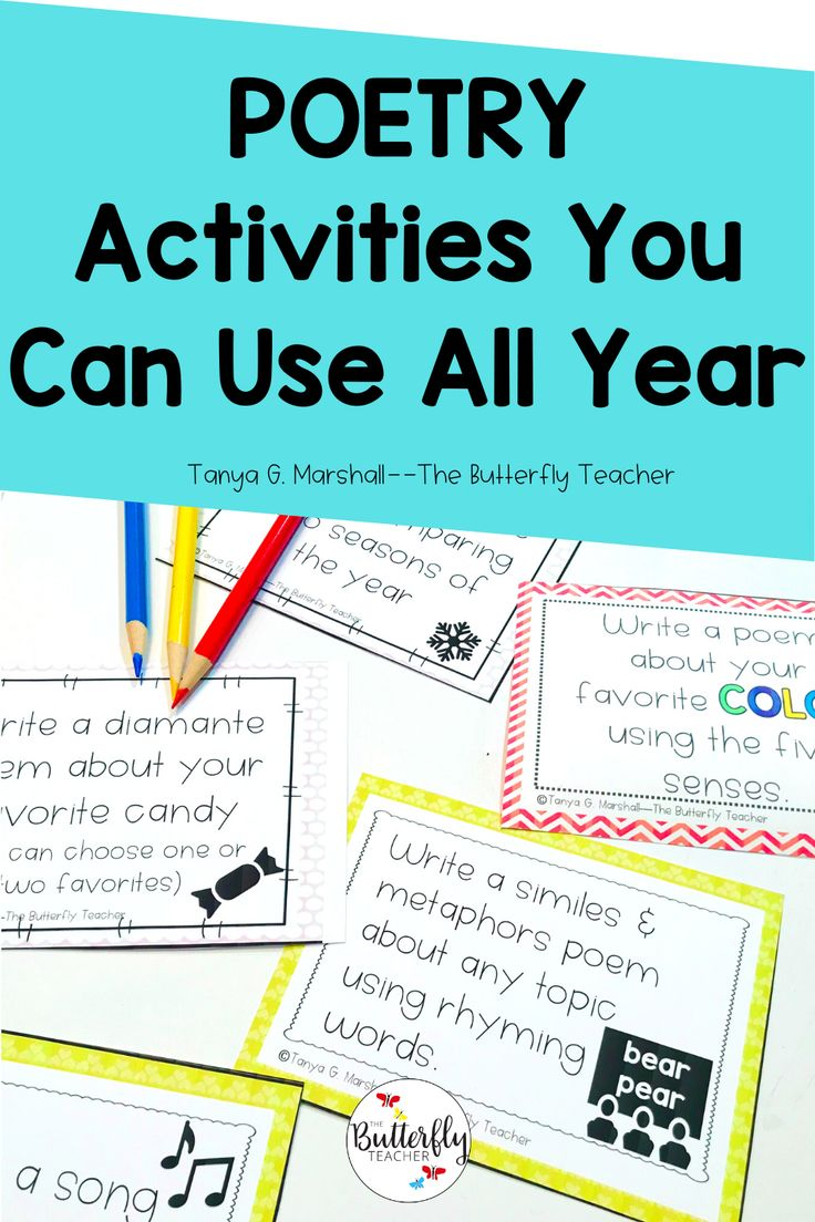 Engaging Poetry Activities For Upper Elementary The Butterfly Teacher Activities Butterfl Poetry Activities Writing Task Cards Teacher Favorite Things [ 1104 x 736 Pixel ]