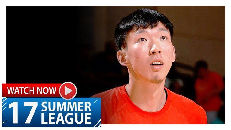 Zhou Qi Full Highlights vs Nuggets (2017.07.07) Summer League - 17 Pts, ...