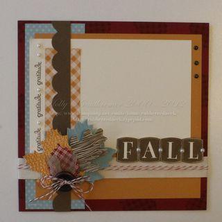 SU! Scrapbook page using Wonderfall stamp set - Holly Krautkremer