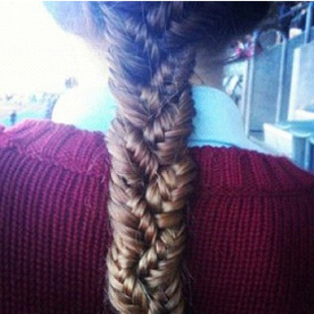 cool braid!! :): Hair Ideas, French Braids, Braids Hairstyles, Fish Tail, Long Hair, Beautiful, Fishtail Braids, Hair Style, Braids Braids
