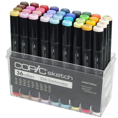 Copic Marker 36-Piece Sketch Markers Set, 25th Anniversary Limited Edition Copic Marker http://www.amazon.com/dp/B008KYJJBE/ref=cm_sw_r_pi_dp_cVrCub1MB3N8B