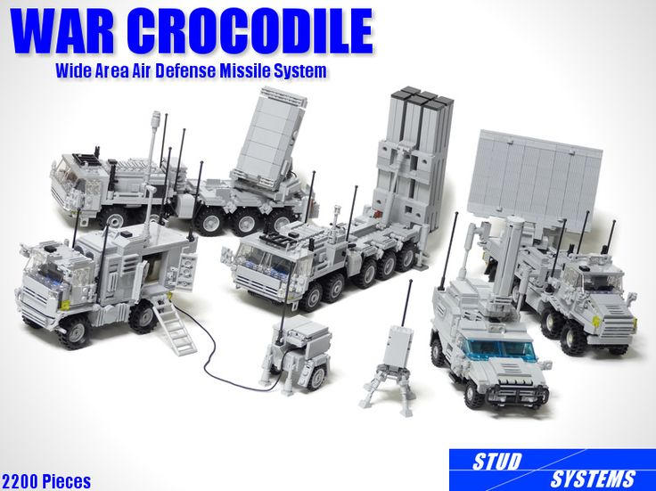 LEGO War Crocodile Wide Area Air Defense Missile System   by popo lego