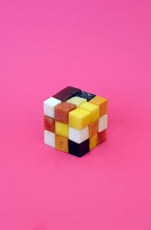 healthy cubes,pinned by Ton van der Veer