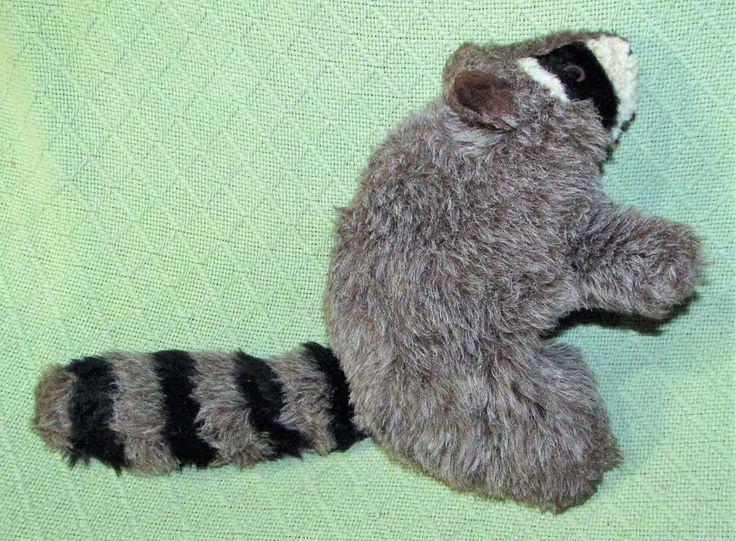 """Vintage FULL BODY RACCOON Hand Puppet COUNTRY CRITTERS S&S Sales Plush 12"""" USA  #SSSales"""