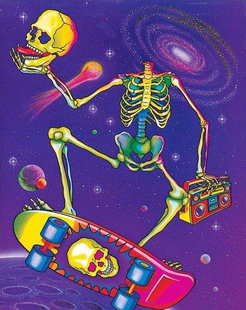 Skateboarding music dope sky drugs weed lsd cartoon indie for Drugs in space