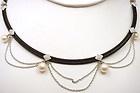 Charriol Jewelry - PHILIPPE CHARRIOL 18k WHITE GOLD BLACK STEEL DIAMOND AND PEARL NECKLACE - Charriol Jewelryhttp://www.diamondsandgemstones.net/charriol-jewelry/#