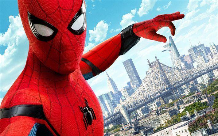 Lataa kuva Spider-Man Kotiinpaluu, 2017, Supersankari, uusia elokuvia, Spider-Man