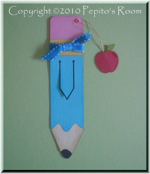 Pencil Bookmark - Back To School by PepitosRoom - Cards and Paper Crafts at Splitcoaststampers