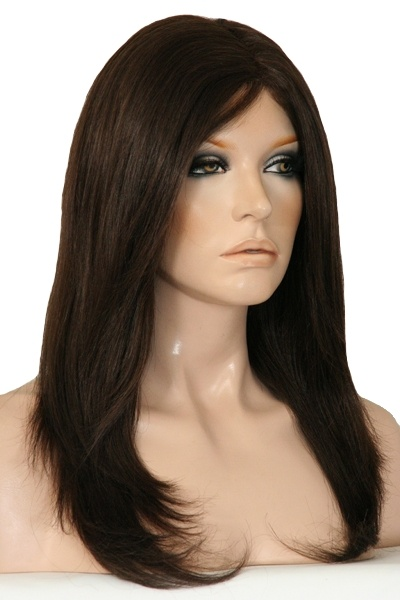 Mandy 100% Human Hair wig.  Full Mono top to give a realistic appearance. Lovely Design.  A large range available at www.wigsonline.com.au