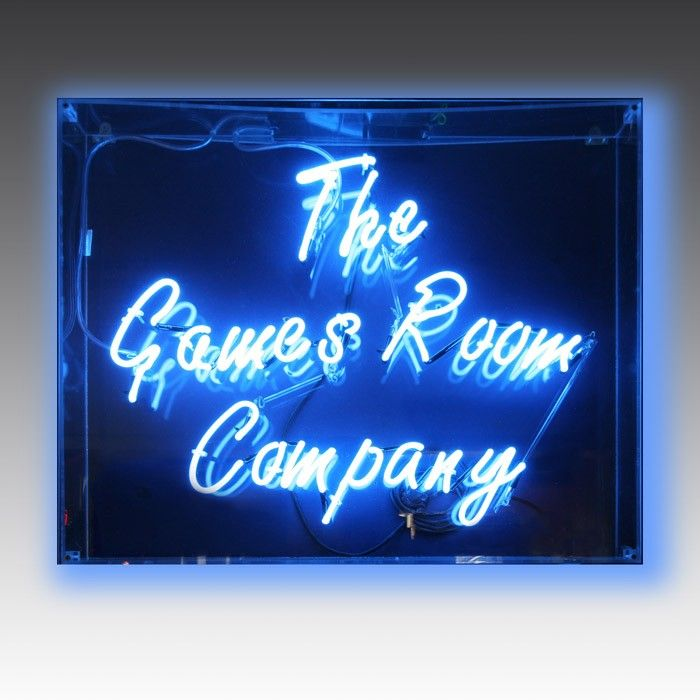Games Room Company can custom create a neon sign for you, with any words or shapes you want. It's the ideal interior accessory, or a very thoughtful gift!