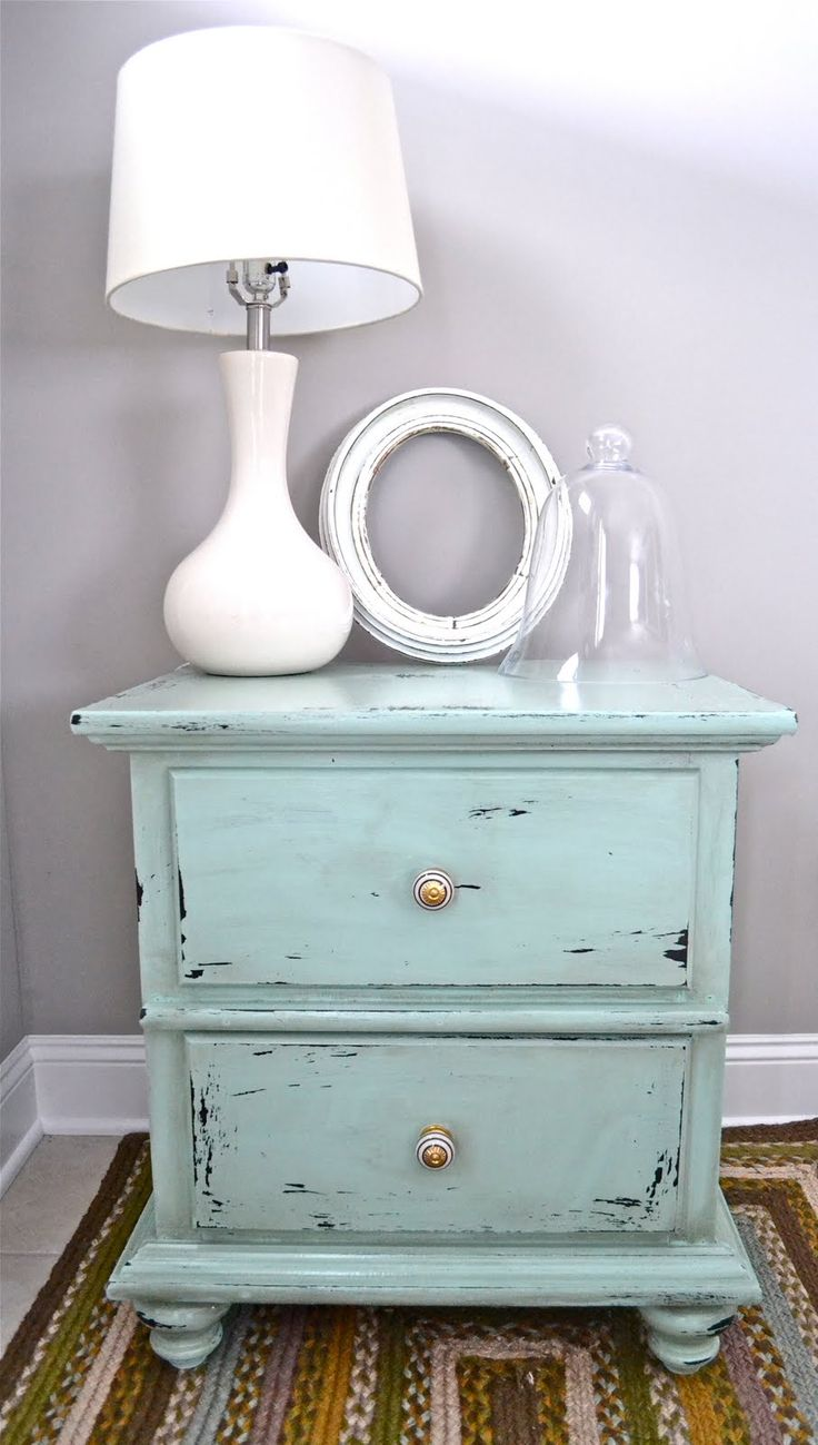 25 best ideas about distressed end tables on pinterest Things to use as nightstands