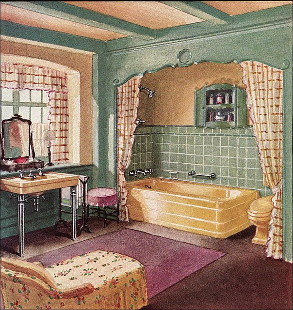 259 best 1930s and 1940s american homes images on for 1940s bathroom decor