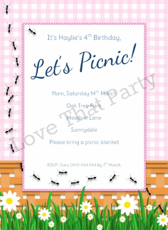 42 best images about Picnic Party – Picnic Party Invitations