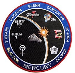NASA Project Mercury Space Patch Commemorative