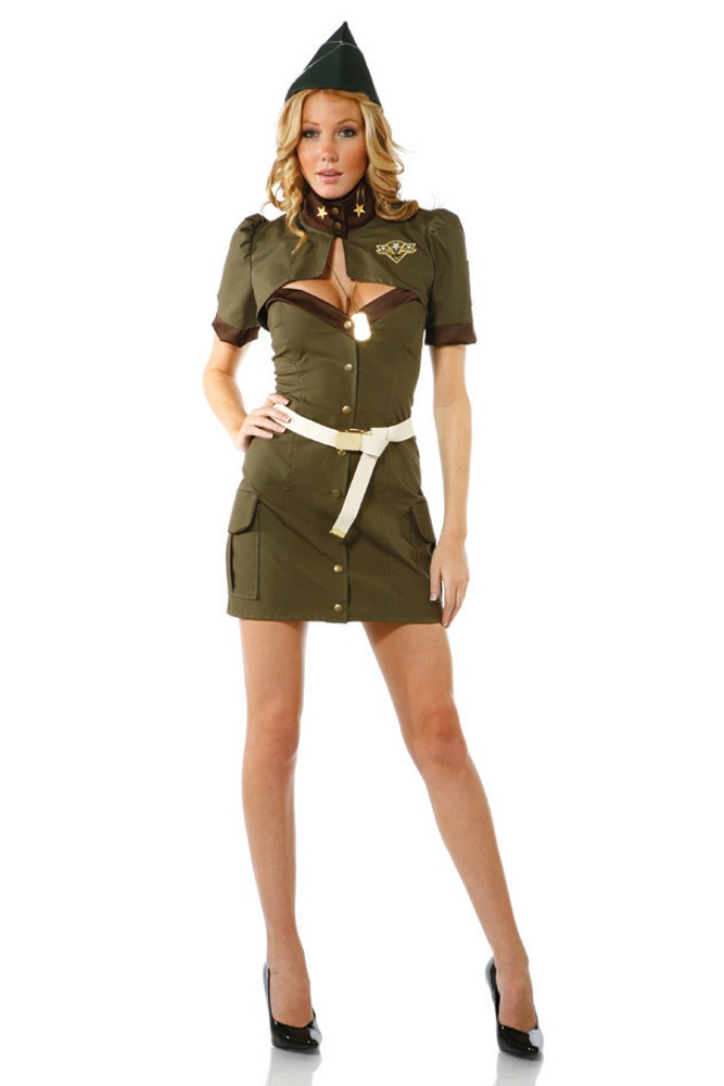 Captivating Cadet Military Costume