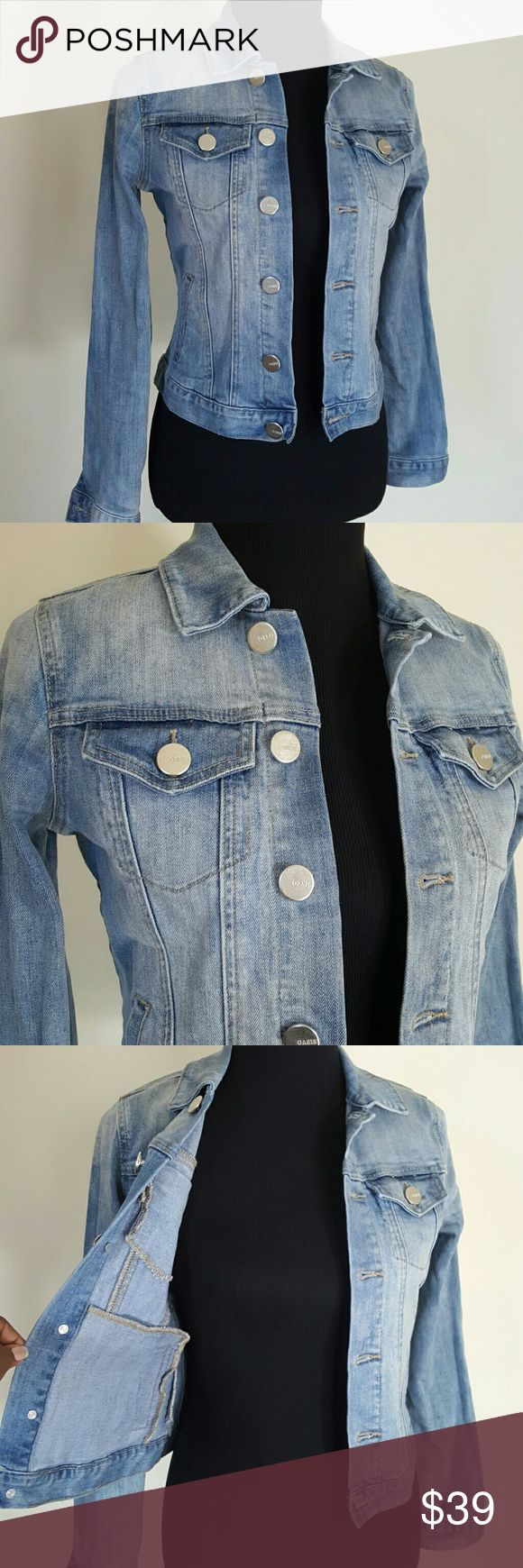 Oasis Baby Blue Denim Jean Jacket UK Size 8 A closet must! Great condition  Multiple pockets interior and exterior  Cotton blend fabric size UK8 Oasis Jackets & Coats