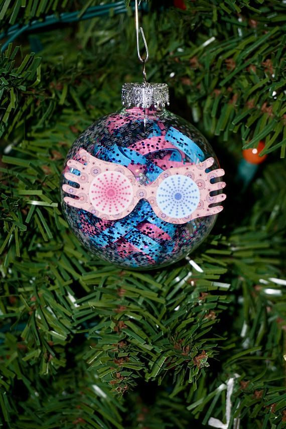 Harry Potter Christmas Ornament Set Spectrespecs, Chocolate Frog, Butterbeer, Felix Felicis, Deathly Hallows, Pygmypuff