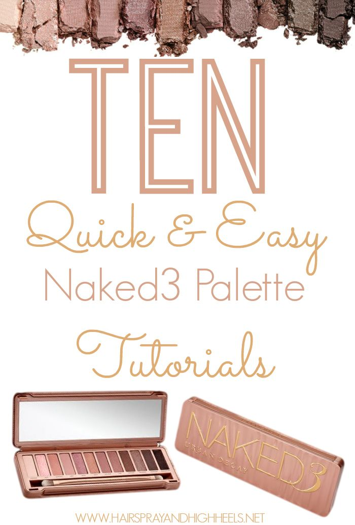 Jul 19, 2020 – Have the Urban Decay Naked 3 palette? Not sure where to start? Here are 10 fabulous and super easy tutori…