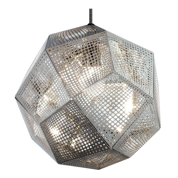 Tom+Dixon+Etch+Shade+Steel+Pendant+Light+-+Geometric+steel+pendant+light+from+Tom+Dixon. The+Etch+pendant+shade+is+inspired+by+the+logic+of+pure+mathematics. Geodesic+structures+are+created+from+sections+of+0.4mm+etched+metal+sheets+digitally+made+by+employing+an+industrial+process+normally+used+to+produce+electronic+products. This+pendant+light+has+a+detailed+pattern+which+casts+a+beautiful+mass+of+intricate+shadows+when+lit. Use+as+a+single+pendant+or+combine+with+others,+above+a+dinin...