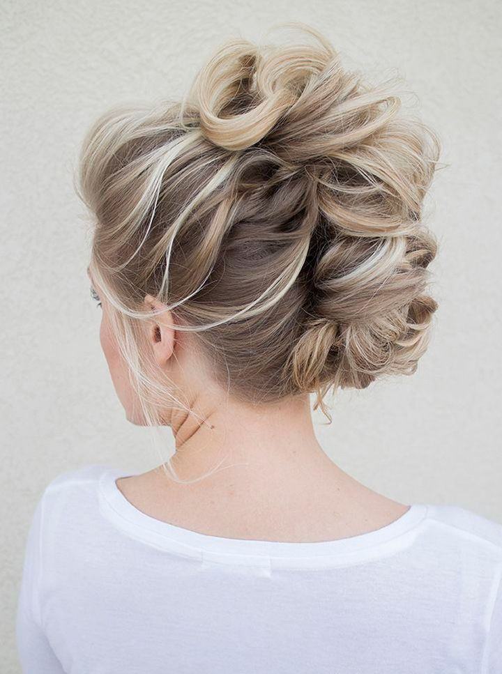 bridal faux hawk edgy bride