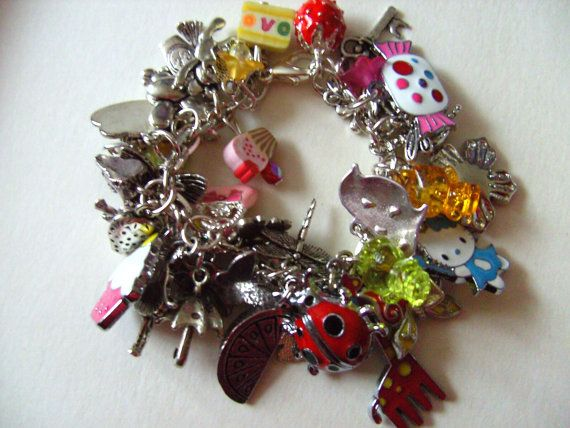 Girls childrens jewellery Loaded  charm Bracelet  by NewellsJewels, £20.00