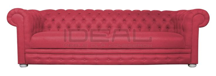 Przepiękna sofa Chesterfield z głębokimi pikowaniami. Intensywny kolor czerwony dodaje jej fantazji. Idealna do salonu, perfekcyjna do gabinetu. sofa_chesterfield_march_rem_IMG_2806c.jpg (1200×427)