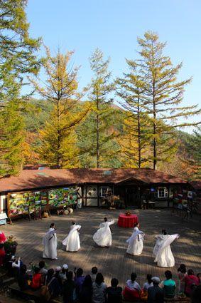 Korean Traditional Dance, Fall in Herb Festival, Farm Herbnara, Korea