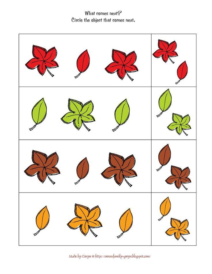 preschool printables autumn fall preschool pinterest preschool printables leaf patterns. Black Bedroom Furniture Sets. Home Design Ideas