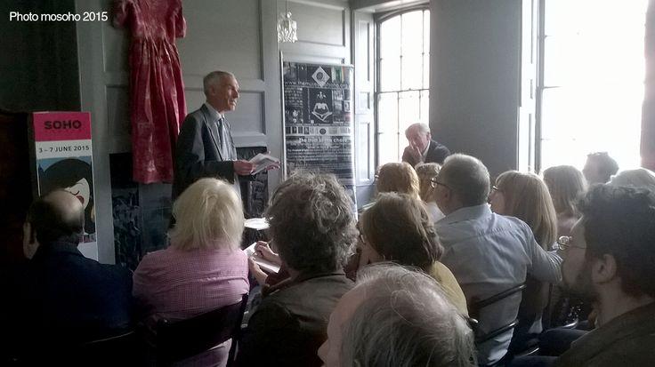 Paul Baker, City of London guide introduces historian, Dan Cruickshank at Black's members club. http://www.thejc.com/event/barnet-during-first-world-war-a-talk-paul-baker-cityread-london