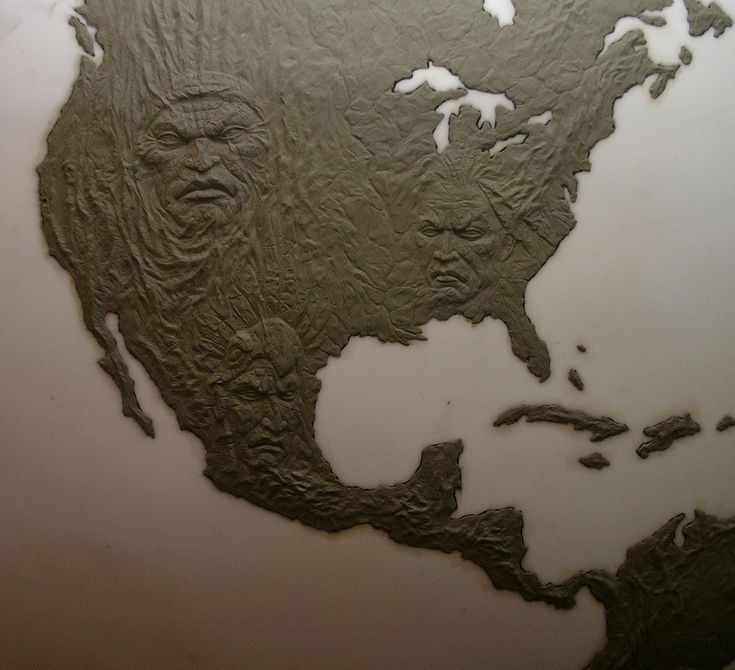 A topographical relief map for Microsoftu0027s advertising