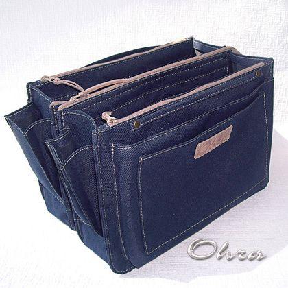 Органайзеры для сумок ручной работы. Ярмарка Мастеров - ручная работа Тинтамар двойной текстильный 2 (органайзер для сумки). Handmade.
