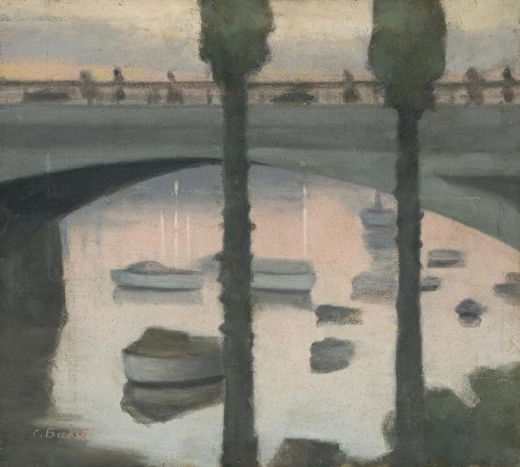 'Princes Bridge' by Clarice Beckett, 1930. Oil on board.