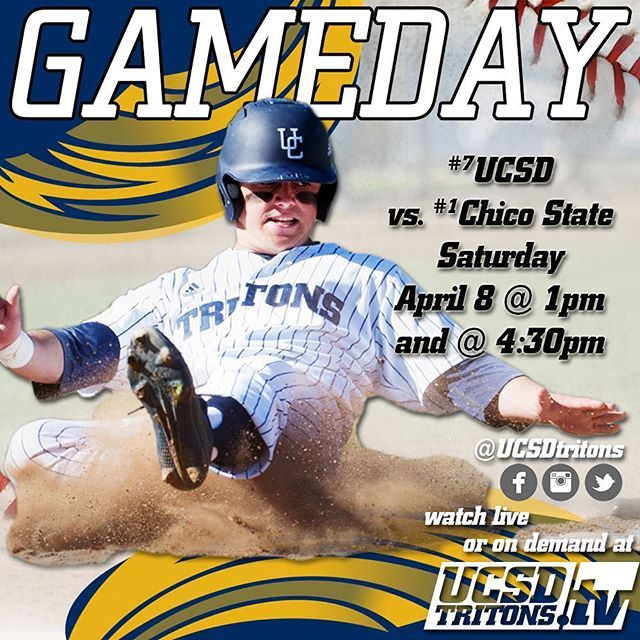 A meeting of EPIC proportions slated in #LaJolla today. No. 7 UC San Diego Baseball faces off against top-ranked Chico State for #CCAAbsb and NCAA West Region bragging rights. --- #AllForOne #Baseball #UCSanDiego #Tritons #lajollalocals #sandiegoconnection #sdlocals - posted by UCSDtritons  https://www.instagram.com/ucsdtritons. See more post on La Jolla at http://LaJollaLocals.com