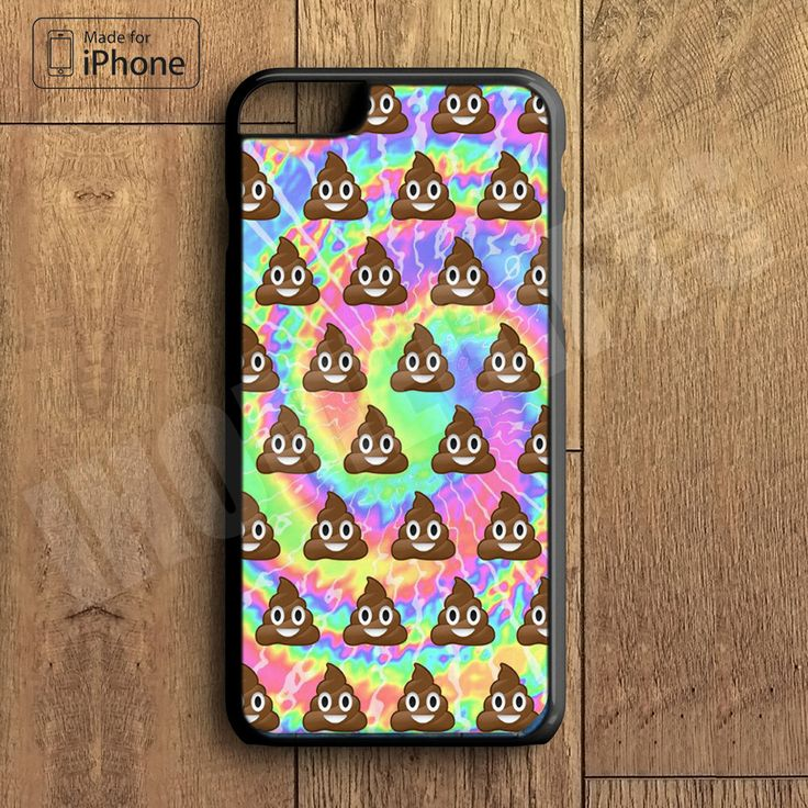 Funny Poop Emoji Tye Dye Cool Phone Case For iPhone 6 Plus For iPhone 6 For iPhone 5/5S For iPhone 4/4S For iPhone 5C-5 Colors Available