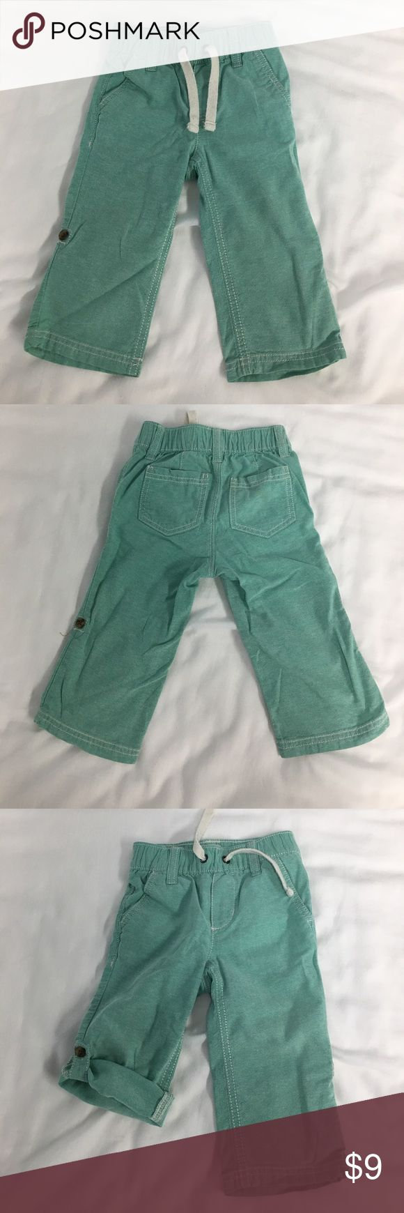 Old Navy Boys Mint Green Pants 12-18 Months Old Navy Boys Mint Green Pants 12-18 Months, can be worn as a full pant or rolled up to knicker/short height. Elastic Waist. In excellent condition! Old Navy Bottoms Casual